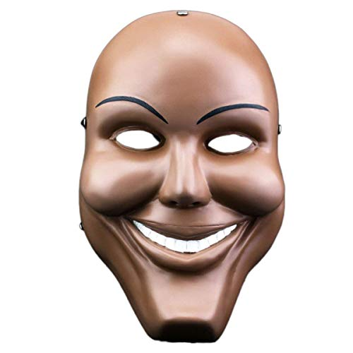 Plastic Purge Grin Mask Halloween Horror Party Mask Fancy Kiss Me God Smiling Decor Dress Up Party Bar Supplies Costume -