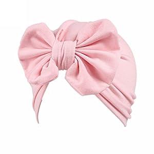 Baby Hats, HUHU833 Children Baby Girls Butterfly Boho Hat Beanie Scarf Turban Head Wrap Cap (Pink)
