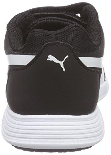 PumaST Trainer Evo V Inf - Zapatillas Unisex, para niños Negro / Blanco