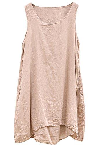 MatchLife - Camiseta - Cuello redondo - para mujer Abricot Foncé