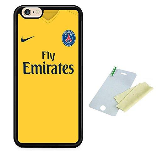 Coque silicone BUMPER souple IPHONE 6/6s - Football PSG paris st germain motif 2 DESIGN case+ Film de protection OFFERT
