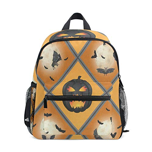 Mini Backpack Halloween Pattern School Bag Daypack Lightweight Small