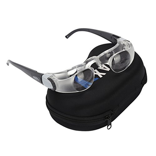 TV Television Magnifying Glass 2.1X 0 to +300 Degree Goggles Binocular Glasses Handsfree Magnifier for Far-Sightedness Watching TV Eye Magnifier Presbyopia Presbyopic Magnifying