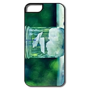 Glass Jar IPhone 5 /5s Case, Custom Keep Calm Design For IPhone 5