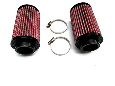 A Pair of Air Pod Filters Filter Pair Stock Carbs 26mm KN for Yamaha Banshee YFZ 350 K&N Style - Yamaha Banshee Stock