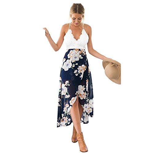 floral asymmetrical maxi dress - 3