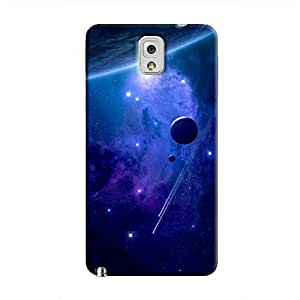 Cover It Up - Stars and Planets Blue Galaxy Note 3 Hard Case