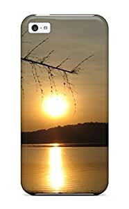Cool Sunset Sun Light Reflection Water Lake Dark Nature Other Case Compatible With Iphone 5c/ Hot Protection Case