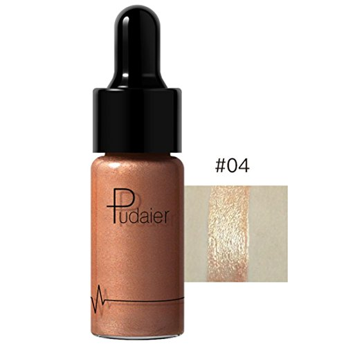Fabal 12 Colors Highlighter Make Up Concealer Shimmer Face Glow Liquid Highlighter Cream (D) ()