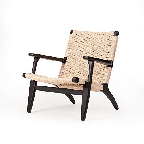 Papercord Easy Chair with Black Lacquer