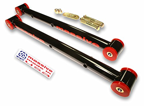 - 6 COLOR Choices- Made in USA- GLOSS BLACK - COMPETITION SERIES- Lower Control Arms LCA 64-72 GM A-Body Skylark Chevelle El Camino Monte Carlo Cutlass 442 Le Mans GTO- SWAY BAR HOOKUP