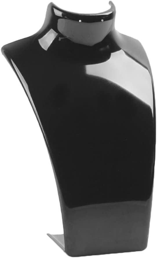 Bomcomi Collier Acrylique Bijoux Boucle doreille en Plastique Buste Mannequin Holder Pr/ésentoir Organisateur