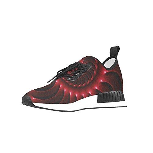 Artsadd Numérique Art Brillant Rouge Fractal Spirale Draco Bonuce Courir Chaussures Pour Hommes