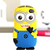 "iTitan Yellow Minion With Two Eyes {Minion Character} Soft and Smooth Silicone Cute 3D Fitted Bumper Gel Case for iPod 4 (4G) 4th Generation iTouch by Apple ""Durable and Slim Flexible Fashion Cover with Amazing and Creative Cartoon Design"""
