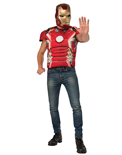 Rubie's Men's Avengers 2 Age Of Ultron Adult Iron Man Mark 43 Muscle Chest Costume Top and Mask, Multi, Standard ()