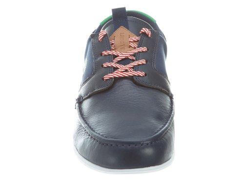 23cbf193e46c0 Lacoste Dreyfus Men s Boat Shoes Sneakers Leather Blue Size 9 - Buy ...