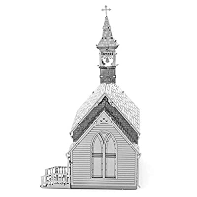 Fascinations Metal Earth Old Country Church 3D Metal Model Kit: Toys & Games