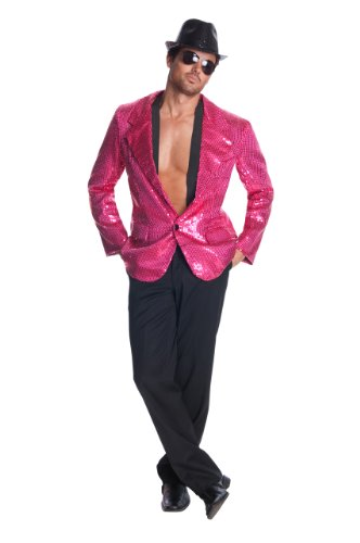 [Rubie's Costume Deluxe Hot Sequin Jacket, Pink, X-Large] (1980s Dress)