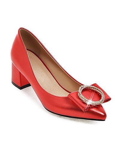 GGX/ Mädchen / Damen-Hochzeitsschuhe-Absätze / Neuheit / Spitzschuh-High Heels-Hochzeit / Kleid / Party & Festivität-Schwarz / Rosa / Rot / 2in-2 3/4in-red