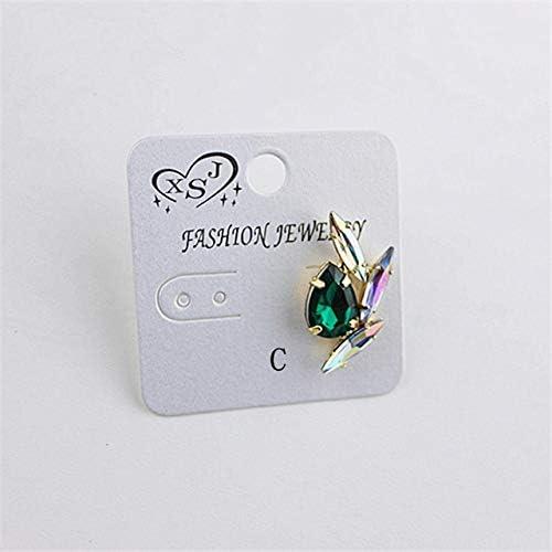 Aretes Elegantespendientes De Gota De Cristal Pendientes De 4 Colores Joyas De Lujo Accesorios De Color Plateado Para Mujeres RegaloC