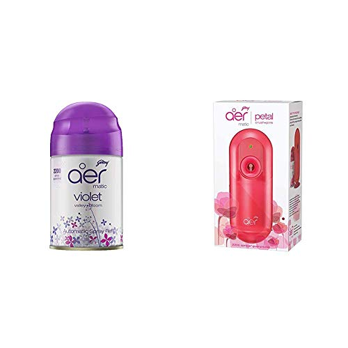 Godrej aer spray, Air Freshener – Cool Surf Blue & Fresh Lush Green (Pack of 2, 240 ml each) & aer pocket, Bathroom Air…