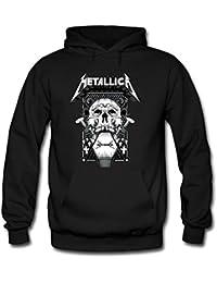 Death Metallica Grey Skull Men's Hoodies