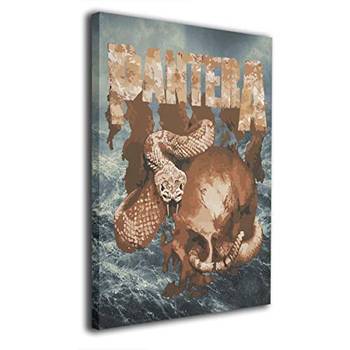 - LixuA Canvas Wall Art Prints Pantera Rattler Skull Photo Modern Paintings Decorative Giclee Artwork Wall Decor Wood Frame Gallery Stretched