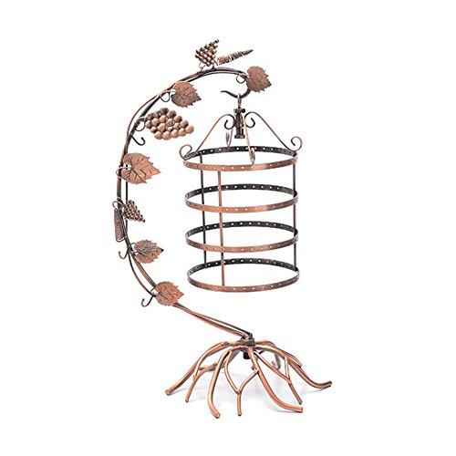 Grape Vine Creative Iron Jewelry Stand Holder Earring Metal Rack Retro Vintage Jewelry Display Necklace Bracelet Pendant Hanger Storage