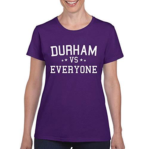 Durham Vs Everyone City Pride Womens Graphic T-Shirt, Purple, Small -