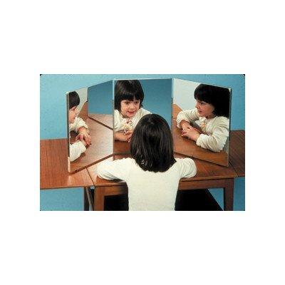 FAB191061 - 3-panel ultra-safe glassless mirror (16 x 12 panels) by Fabrication Enterprises, Inc.