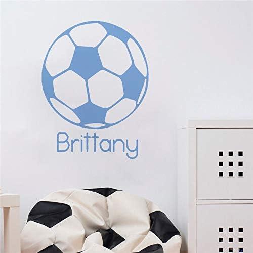 hllhpc Tatuajes de Pared Balón de Fútbol de Fútbol Deporte Nombre ...