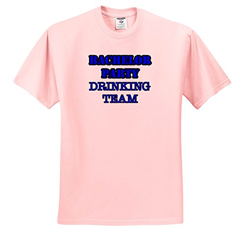 Stag,Bachelor Party - Bachelor Party Drinking Team Blue - T-Shirts - Light Pink Infant Lap-Shoulder Tee (6M) (TS_261064_70) (Team T-shirt Drinking Light)