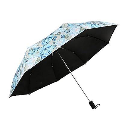 Paraguas plegable automatico Mujer niño Hombre an- Parasol Plegable del Paraguas del Sol - Sombra