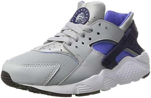NIKE HUARACHE RUN (GS) boys fashion-sneakers 654275 (4.5 M US Big Kid, Wolf Grey/Binary Blue)