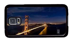 Hipster underwater Samsung Galaxy S5 Cases san francisco brigde night lights PC Black for Samsung S5