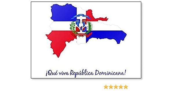 Mapa Republica Dominicana Bandera Classic imán para nevera: Amazon.es: Hogar