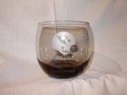 Vintage 10 Ounce Cardinals Football Glass Whisky Tumbler Smoked