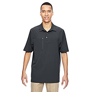 North End 85120 Men's Excursion Crosscheck Performance Woven Polo