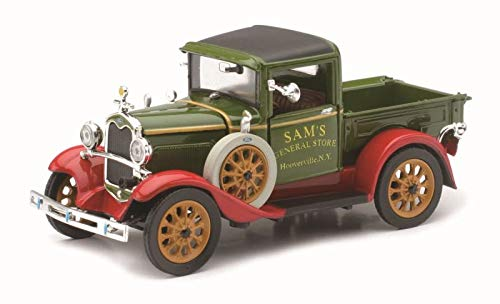 NewRay - 1931 Ford Model A Diecast Classic Car Collection Pickup Truck - Green - 1:32 Scale ()
