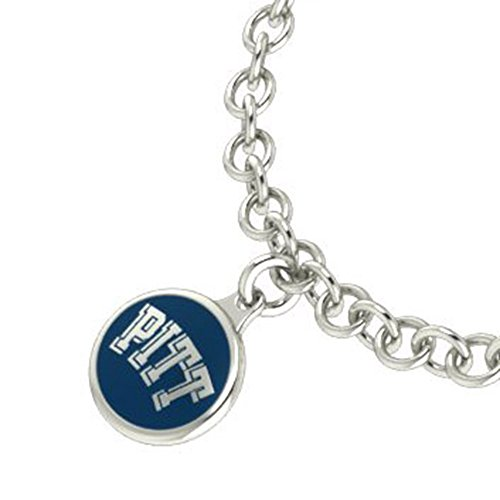 Pittsburgh Panthers Sterling Silver Jewelry and Enamel Charm Bracelet.