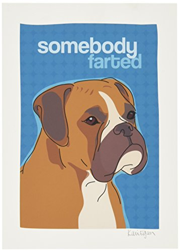 Pop Art Boxer - Pop Doggie Somebody Farted Dog Art Boxer Dog Art, 5 by 7
