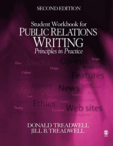 Student Workbook for Public Relations Writing: Principles in Practice (Best In Class Customer Service Practices)