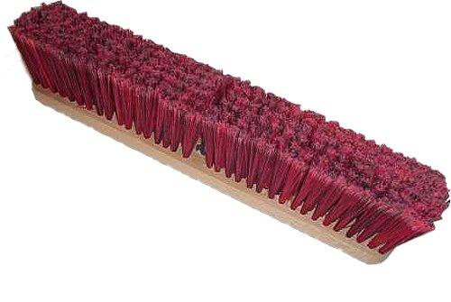 HUB City Industries 1942S Black Diamond Floor Brooms, Red and Black Superfine, 42''