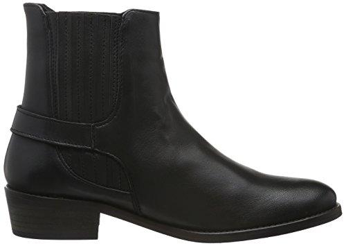 Vero Moda Vmjeanet Leather Boot, Stivali Bassi con Imbottitura Leggera Donna Nero (Nero (Nero))