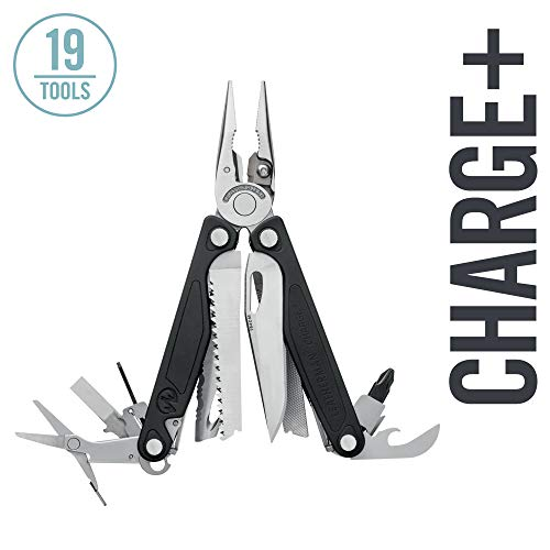 LEATHERMAN - Charge Plus Multitool with Scissors and Premium Replaceable Wire Cutters, Stainless Steel