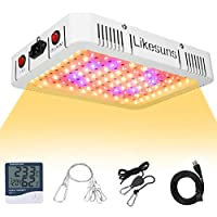Likesuns 1000W LED Plant Grow Light for Indoor Plants - Full Spectrum Double Switch Veg and Bloom for Succulents, Herbs…