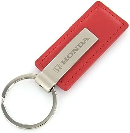 Honda Dog Bone Shaped Key Chain With A Chrome Id Tag Attached To Keychain Ring