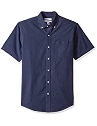 Amazon Essentials Camisa Oxford de manga corta para hombre
