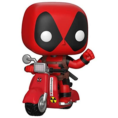 Funko Pop! Ride Marvel: Deadpool & Scooter Collectible Figure, Multicolor: Funko Pop! Ride Marvel:: Toys & Games