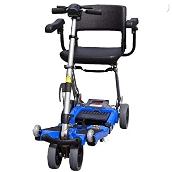 Luggie Mobility Scooter Suitcase: (Yes), Arm Rests: Flip-back armrests, Color: Blue